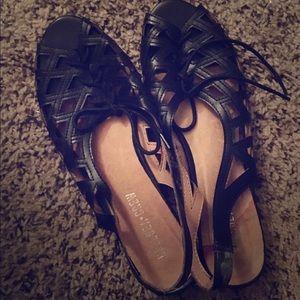 Cute Black Lace Up Sandals