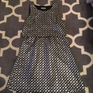 Black and silver houndstooth Cynthia Rowley dress