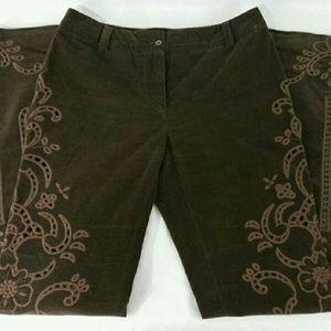 Dolce & Gabbana Ittierre Spa Sz 8US Corduroy Pants