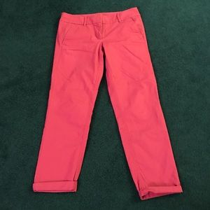 Cute pink ankle pants