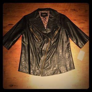 Fever London Jackets & Blazers - NWT Feminine leather jacket