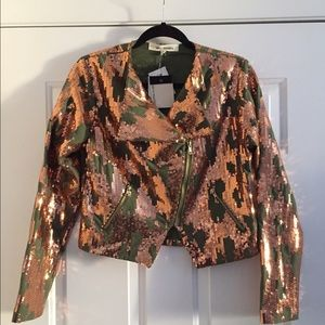 Steve Madden Jackets & Blazers - Copper Sequin jacket! NWT✨✨