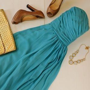 Bill Levkoff Dresses & Skirts - Host Pick Bill Levkoff Aqua Strapless Dress Sz 18