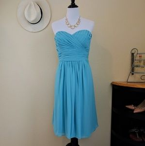 Bill Levkoff Dresses & Skirts - 🎉HP🎉Bill Levkoff Aqua Blue Strapless Dress Sz 18