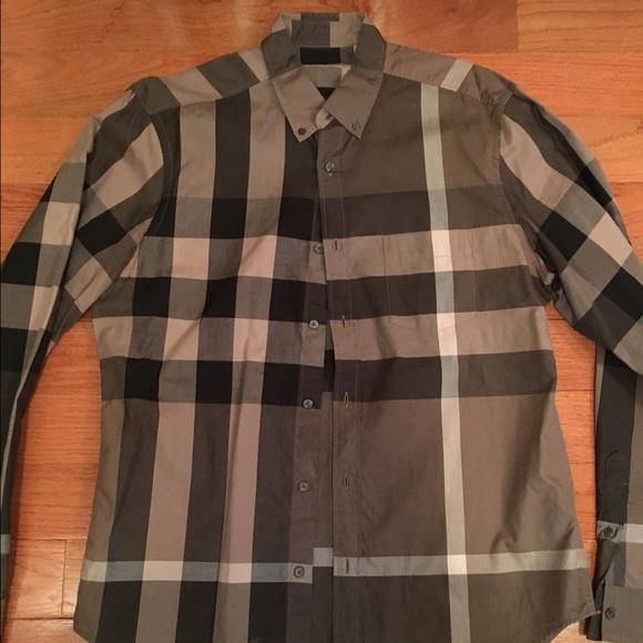 2a7b0bdaeac1 Burberry Other - Burberry brit brown check dress shirt size L