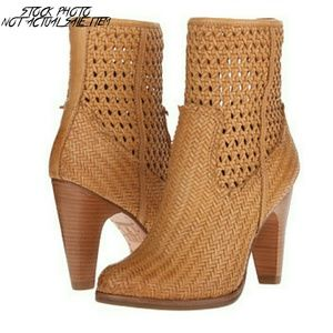 Frye Shoes - NWT Frye Celeste Short Woven Leather Boot