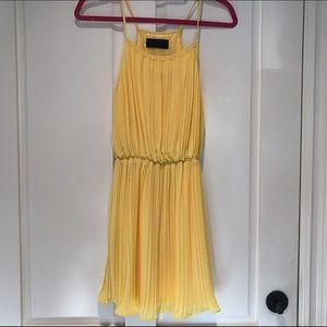 Blaque Label Dresses & Skirts - Blaque Label Yellow Chiffon Dress