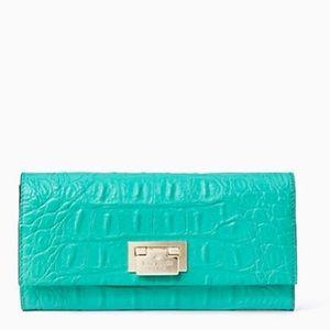 kate spade Handbags - NWT Kate Spade croc embossed wallet/clutch