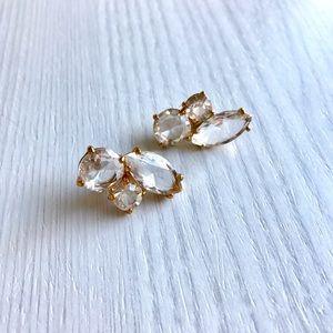 kate spade Jewelry - Kate Spade Crystal Cluster Earrings