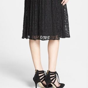 1. STATE Dresses & Skirts - 1. STATE Lace pleated midi skirt