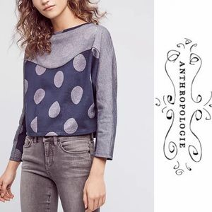 Anthropologie Tops - NWT Anthropologie polka dot metallic pullover