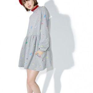 Lazy Oaf Dresses & Skirts - NEW WITH TAGS LAZY OAF RANDOM ICONS DRESS s/m m/l