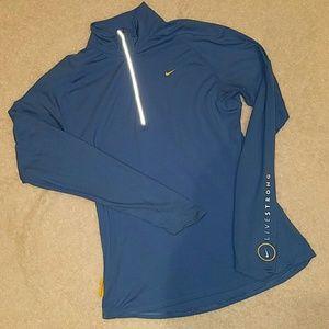 NIKE women's 1/4 zip DRY-FIT pullover sz. L