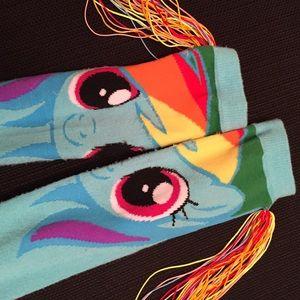 My Little Pony Other - Rainbow Dash Socks w/Tassels