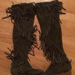 Sam Edelman Shoes - Sam Edelman Over the Knee Fringe women's 7.5