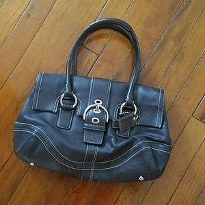 !! FLASH SALE !! COACH leather shoulder bag