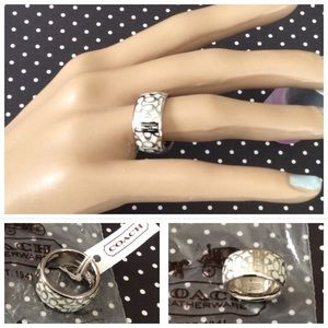 Coach Jewelry - Coach Sterling Silver Signature Ring