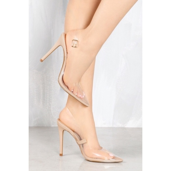 ee1d6f3543 Imported Shoes | Ankle Strap Clear Stiletto Heels Size 8 | Poshmark