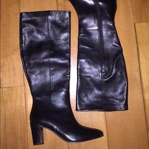 Johnston & Murphy Shoes - Johnston & Murphy tall kneehigh black leather boot