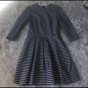 Navy and white stripe dress size 4