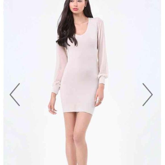 53928aead06 bebe Dresses   Skirts - Bebe Pale Pink Sweater Dress