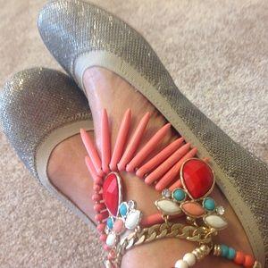 Bandolino Shoes - Gold Multi Fabric Bandolino Flats