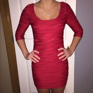 Red body con dress. Size small.