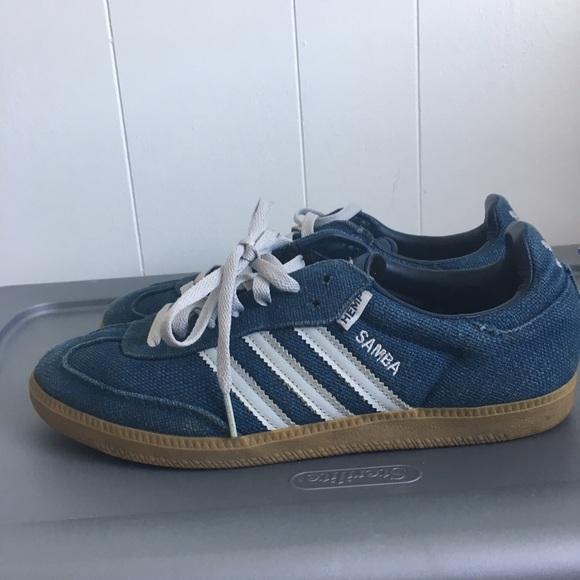 Adidas Shoes Samba Hemp SneakersPoshmark Hemp Rare Samba Navy Mens 85 Sambas Poshmark