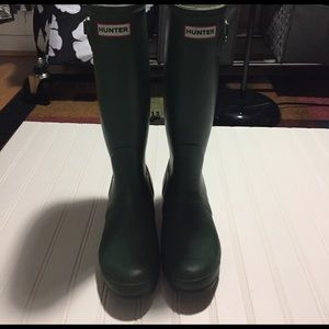 Original tall Hunter rain boots