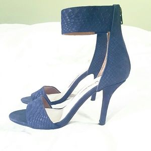 Jeffrey Campbell Shoes - JEFFERY CAMBELL NAVY 6.5 HEEL ANKLE STRAP