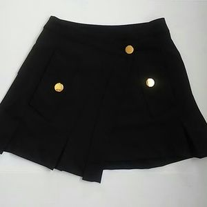 Dondup Dresses & Skirts - Dondup Mini Skirt 25 Black Tree buttons front