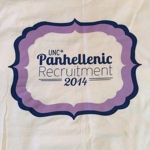 Tops - White Go Greek Recruitment Shirt
