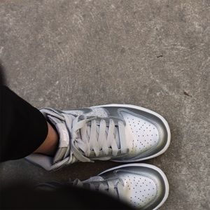 Nike Shoes - Nike Silver Dunks