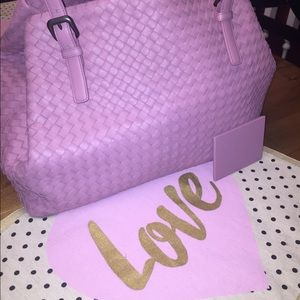 Bottega Veneta Handbags - Bottega Veneta Large A shaped Intreciatto pink