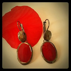 Bellerose Jewelry - Lady in Red Circle Drop Earrings
