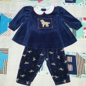 Hartstrings Other - Hartstrings baby dog print outfit