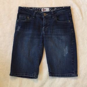 Dark Denim Shorts Size 5
