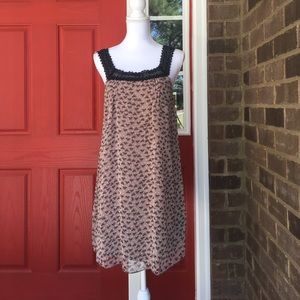 Aryeh Dresses & Skirts - Crochet Yoke Dress with Cat Prints