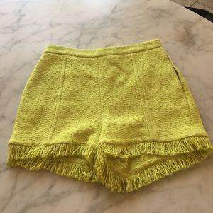 MSGM Pants - Yellow Fancy Shorts