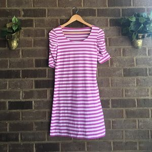 Lilly Pulitzer Dresses & Skirts - Lilly Pulitzer Kaley Dress Striped Pansy Purple