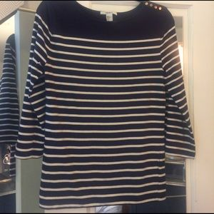 Striped Navy & White Top