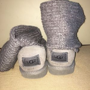 Authentic Gray Knit Uggs