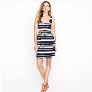 Navy & white J.Crew Villa Dress
