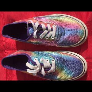 Vans Other - VANS Sequin Shoes girls size 3