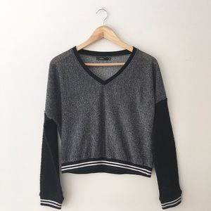 Millau Sweaters - Millau VNeck Baseball Sweater