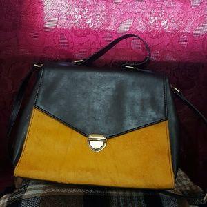 Nila Anthony Handbags - Nila Anthony Faux fur leather satchel purse