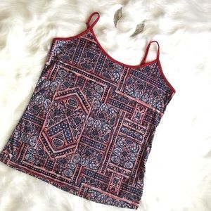 Tops - Red & Blue Designed Tank!