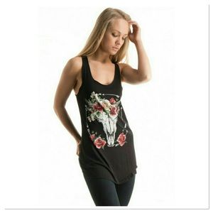 Floral Skull Tank - no offers