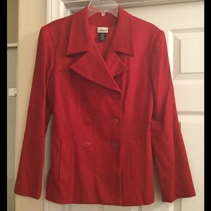 Hillard & Hanson Jackets & Blazers - Red wool pea coat
