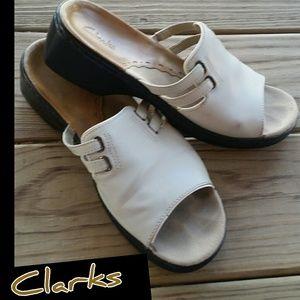 Clarks Shoes - Pretty Clark Sandals in Cream!
